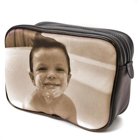 wash bag for men personalised with a photo mens photo