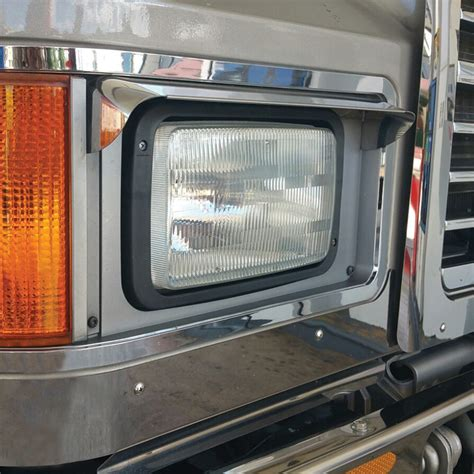 mack ch single headlight visor headlight visors exterior trims ch mack browse  truck