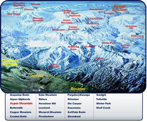 map of ski resorts colorado colorado ski country tricks what can happen when a