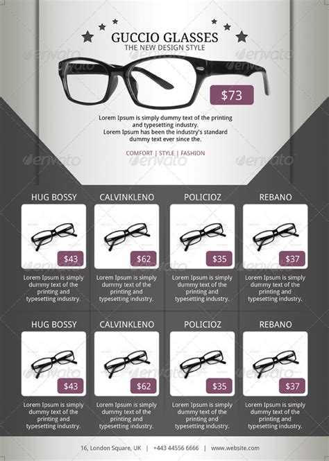 Sunglasses Flyer Template By Blogankids Graphicriver Free Templates For Optical Shop