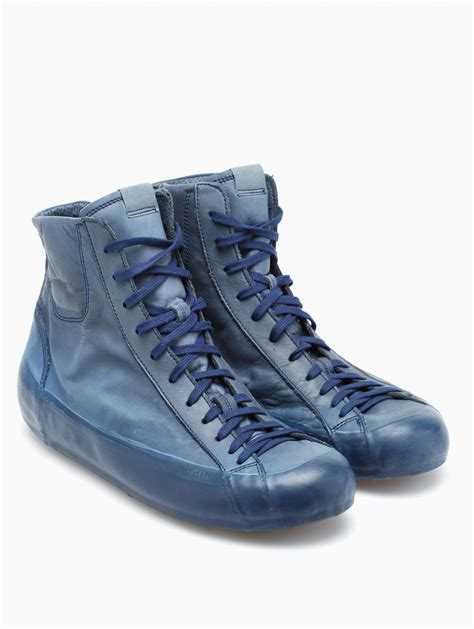 oxs sneakers oxs rubber soul leather sneakers in blue for lyst