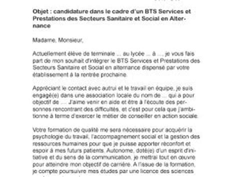 Lettre De Motivation Apb Bts Ci Lettre De Motivation Bts Sp3s Alternance Par Lettreutile