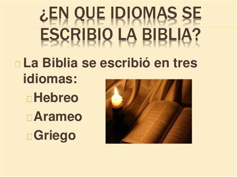 quien escribio la biblia como leer biblia lunes