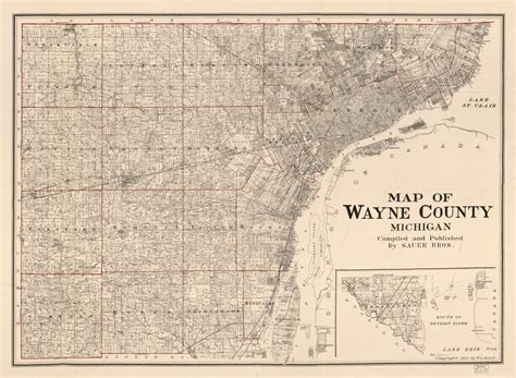 map of wayne county michigan see the rise of the motor city detroit s history in maps