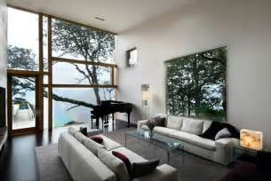 Wide Windows Decorating Swaniwck Living Room With Large Windows