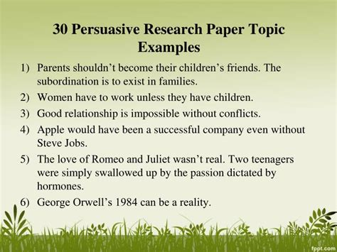 research topics in psychology for a research paper ppt persuasive research paper topics powerpoint