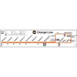 Orange Line Map Chicago by Ctagifts Com Orange Line Map Poster