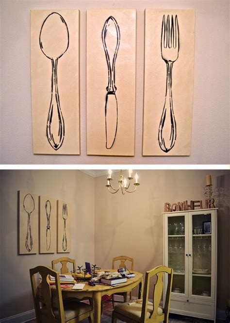 framed wall art for dining room 3 piece home design 3 piece monochromatic spoon also fork wall art for dining