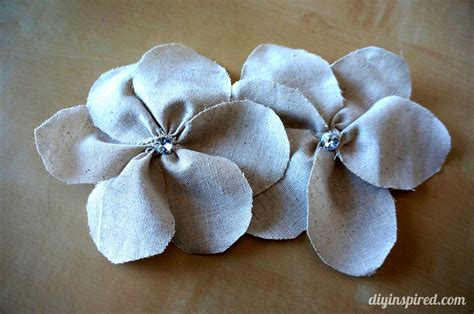 Handmade Fabric Flowers Tutorial - tutorial for fabric flowers diy inspired