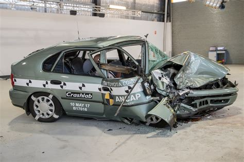 crash test 1998 vs 2015 crash test fatality rate 4 times higher in