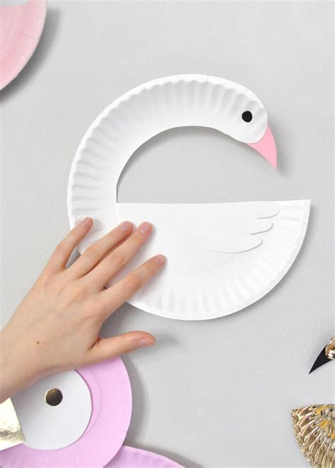 Paper Plates Craft - paper plate birds diy paper bird and craft