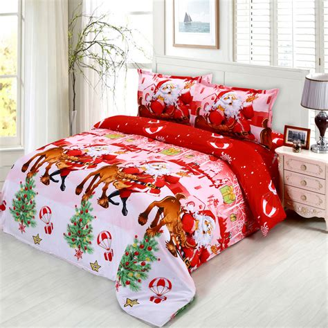4pcs 3d printed bedding set merry christmas santa claus bedding set bedclothes duvet cover bed