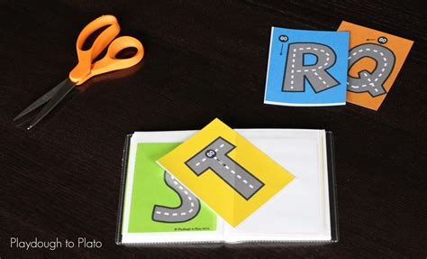 printable road letters free letter tracing roads playdough to plato