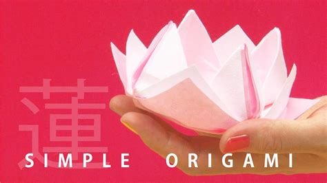 How To Make Japanese Origami - quot origami lotus quot 3 mins origami tutorial with beautiful