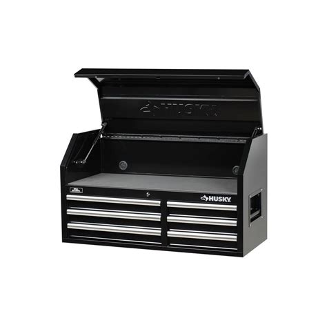 husky 6 drawer tool box husky 41 in 6 drawer tool chest black h4116ch the home