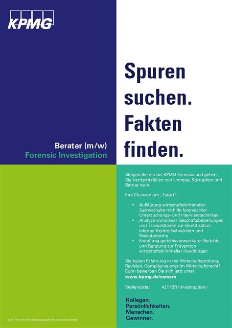 Bewerbung Kpmg Careers In Forensics Check Out Our New Ads Computer Forensik Org