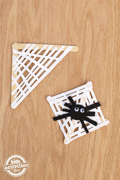 Paper Strips Crafts - paper spider web craft