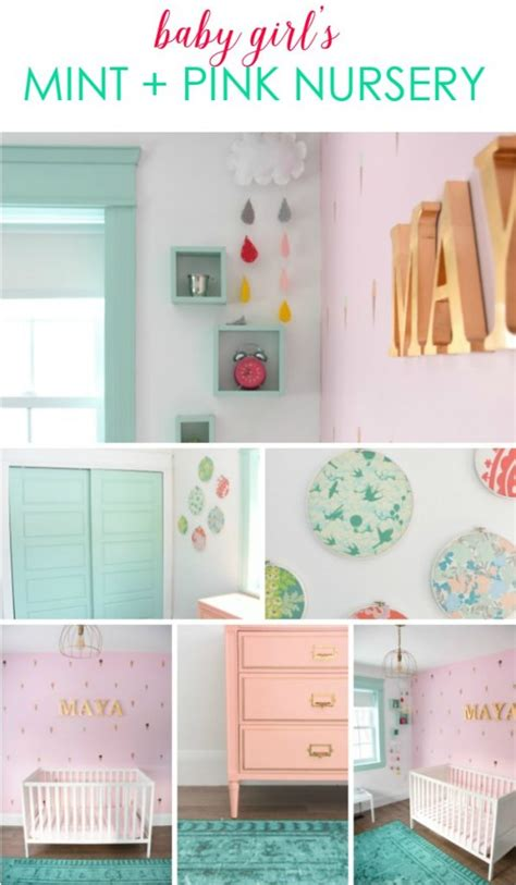 diy pink room decor a baby s mint and pink nursery the sweetest digs