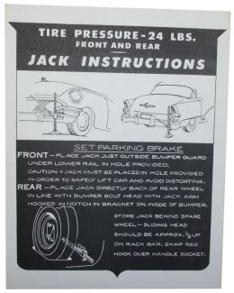 Auto Decal Instructions by 1955 Buick Restoration Parts Jack Instructions Decal Db0104