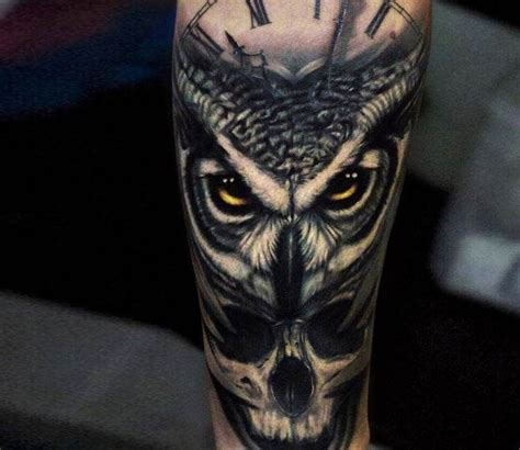owl and skull tattoo owl and skull amazing owl skull