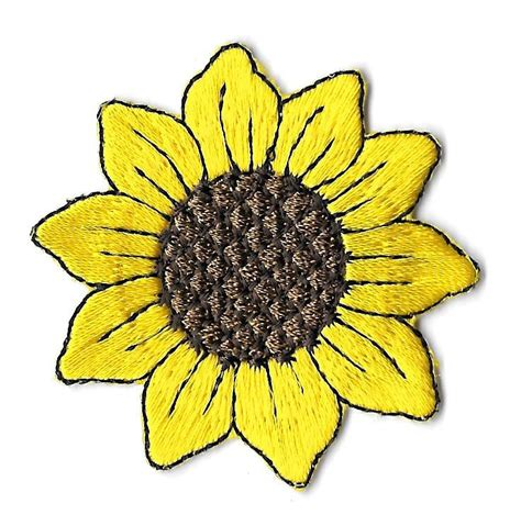 sunflower patch details about sunflower garden embroidered iron on