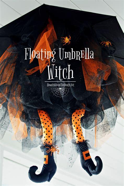 floating umbrella witch diy  halloween home