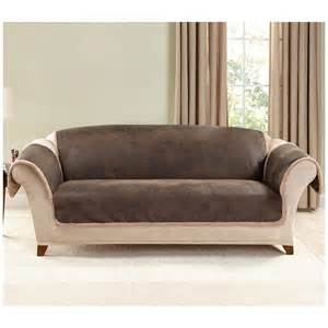 Sofa Covers For Leather Sofa Sure Fit 174 Leather Furn Friend Sofa Slipcover 581243 Furniture Covers At Sportsman S Guide