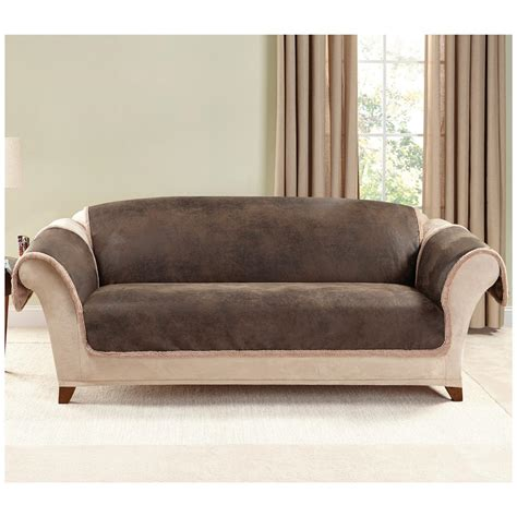 Sure Fit 174 Leather Furn Friend Sofa Slipcover 581243 Slipcover Leather Sofa
