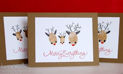 reindeer cards to make sweet n spiffy our family card