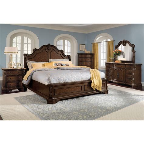 monticello bedroom set monticello pecan nightstand american signature furniture