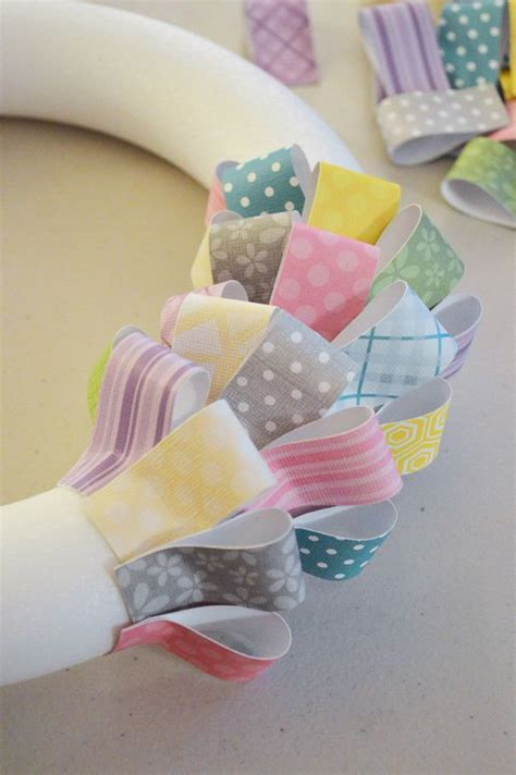 Cardstock Paper Craft Ideas - paper easter wreath dinations colorcore cardstock