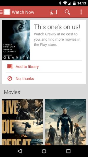 film gratis google gravity film free on google play for select users