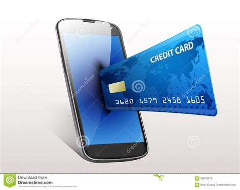 Smart Phone Smart Shopping by Shopping Concept Smartphone With Credit Card