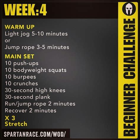spartan beginner challenge week 4 spartan