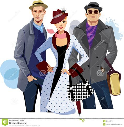 I Am Fashionable fashionable and in coat stock vector