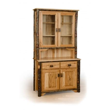 2 Door Buffet Cabinet Rustic Hickory 2 Door Buffet And Hutch China Cabinet
