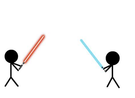 figure lightsabers freelance prodject lightsaber stick figure battle by cole