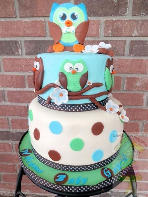Owl Baby Boy Shower Ideas by Owl Baby Shower Cake For Both And Boy Xyz