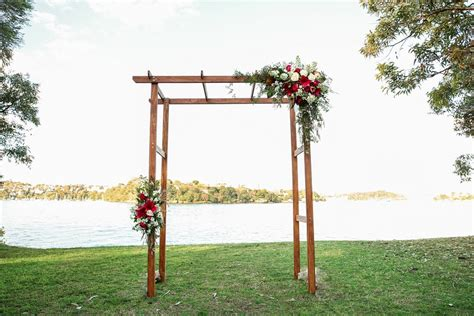 Wedding Arch Wooden by Wooden Floral Wedding Arches Events
