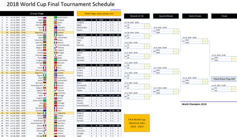 Fifa World Cup 2018 Schedule Fixtures Pdf Download All Countries Time World Cup 2018 Football Fixture Schedule Template