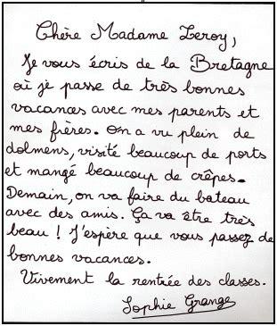 Modèle De Lettre Amicale En Anglais Cours De Fran 231 Ais 5e 201 Crire Une Lettre Maxicours