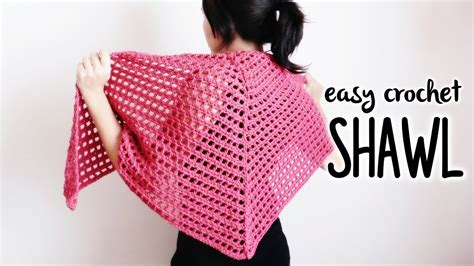 crochet triangle shawl easy crochet shawl