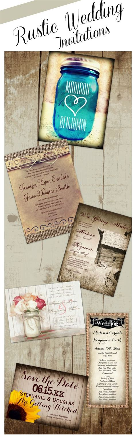 rustic wedding invitations for a country style wedding unique rustic country vintage wedding