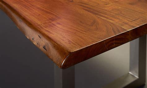 edge acacia  steel dining table  dump
