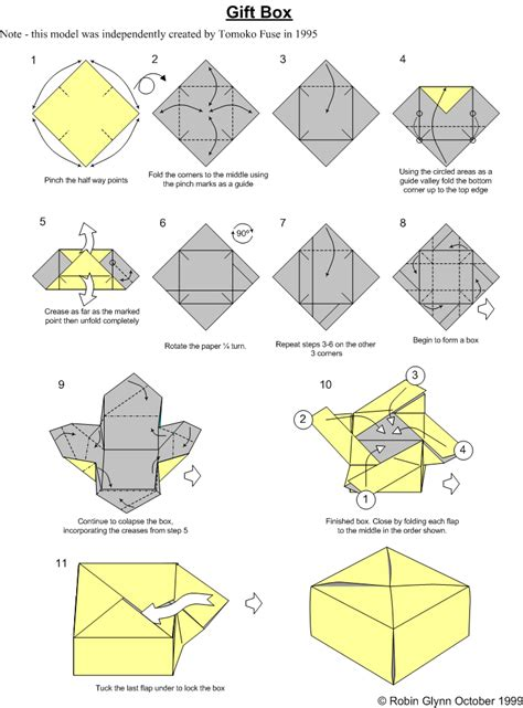How To Make A Origami Box Easy - membuat kotak kado dengan origami hobykita