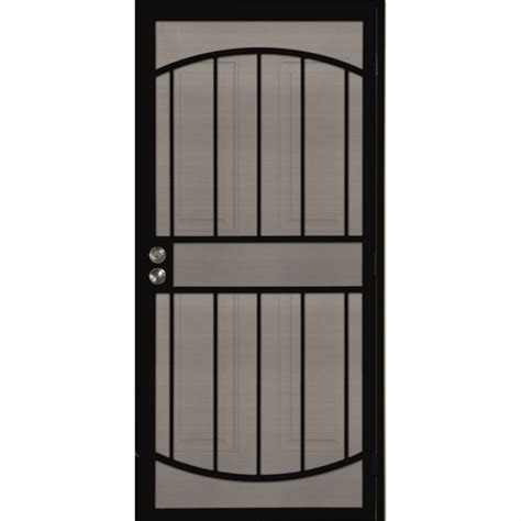 secure door shop gatehouse gibraltar black steel surface mount single security door common 36 in