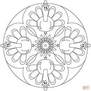 Thanksgiving Mandala Coloring Pages thanksgiving mandala coloring page free printable