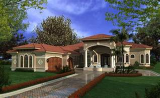 mediterranean house plans luxury 1 story waterfront home