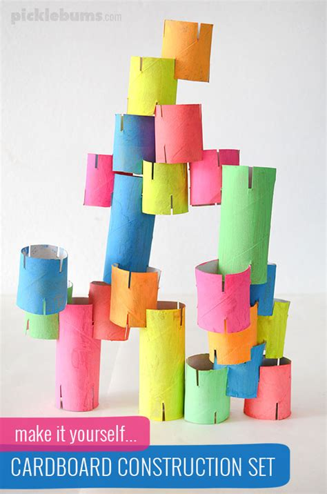 What Can You Make With Construction Paper - diy cardboard construction picklebums