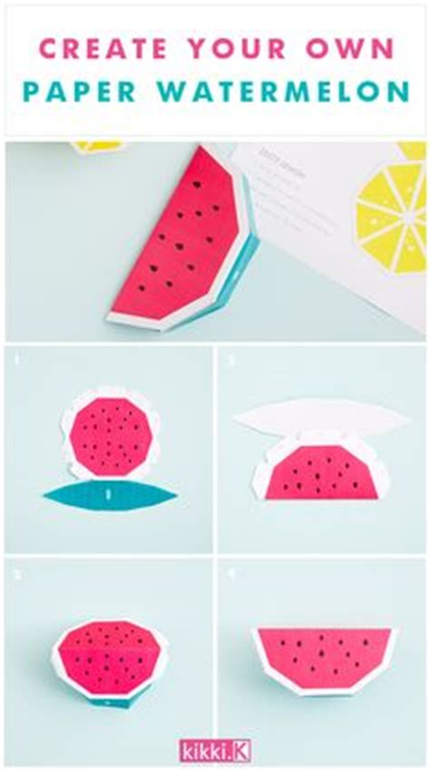 Create Your Own Papercraft - fruit paper model strawberry free papercraft